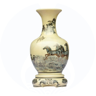 The Gold painted Wealth Chu Dau ceramic vase